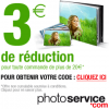 PHOTO SERVICE : 3 euros de réduction dès 20 euros de commande