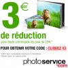 PHOTO SERVICE : 3 euros de réduction dès 20 euros de commande