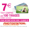 PHOTO STATION : Offre spéciale de 100 tirages photo pour 7 euros tout compris