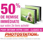 PHOTO STATION : 50% de réduction sur votre 2ème livre photo acheté