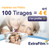 EXTRAFILM : 100 tirages photo Premium à 4 euros