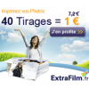 EXTRAFILM : 40 tirages photo à 1 euro