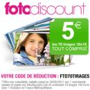 FOTODISCOUNT : 70 tirages photo pour 5 euros