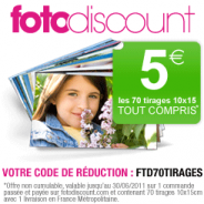 FOTODISCOUNT : 70 tirages photo pour 5 euros