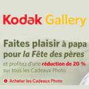 KODAK GALLERY : 20% de réduction sur les cadeaux photo spécial fête des pères