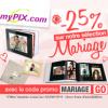 MYPIX : 25% de réduction sur la sélection Photo Mariage