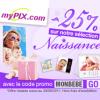 MYPIX : 25% de réduction sur la sélection Photo Naissance