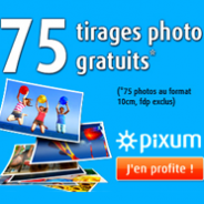 PIXUM : 75 tirages photo Premium gratuits