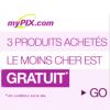 MYPIX : Le produit le moins cher est gratuit pour 3 produits achetés
