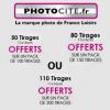 PHOTOCITE : Des packs photos avec 50 ou 80 voire 110 tirages offerts !