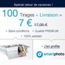 SMARTPHOTO : 100 Tirages Photos Premium pour 7 euros TOUT COMPRIS