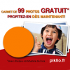 PIKLIO : Un carnet photo gratuit de 99 photos