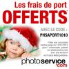 PHOTO SERVICE : Les frais de ports gratuits
