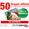 PHOTO SERVICE : Cadeau de Bienvenue de 50 tirages photo offerts