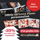 TICTACPHOTO : Livre photo 25% de réduction sur votre première commande pour Noël