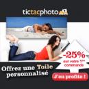 TICTACPHOTO : Photo sur toile 25% de réduction sur votre première commande pour Noël