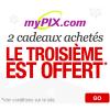 MYPIX : Spécial Noël avec pour 2 cadeaux achetés, le 3ème est GRATUIT !