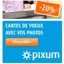 PIXUM : 20% de remise sur les cartes photo personnalisées