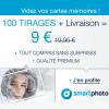 SMARTPHOTO : 100 tirages photo PREMIUM + la livraison pour 9 euros