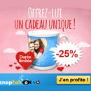 SNAPFISH : 25% de remise sur les mugs panoramiques personnalisés Saint Valentin