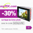 MYPIX : Remise de 30% pour toute commande d'un livre photo