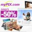 MYPIX : Jusqu'à 50% de réduction sur une sélection de produits photo
