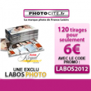 PHOTOCITE : EXCLUSIVITE 120 tirages photos pour seulement 6 euros !