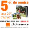 SERVICE PHOTO ORANGE : 5 euros de réduction immédiate dès 20 euros d'achat