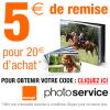 SERVICE PHOTO ORANGE : 5 euros de réduction immédiate dès 20 euros d'achat