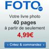 FOTO : Livre photo de 40 pages à partir de 4,99 euros seulement