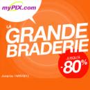MYPIX : La grande braderie jusqu'à 80% de réduction sur une sélection d'objets personnalisés