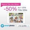 SMARTPHOTO : Spécial fête des mères avec 50% de réduction sur le pêle-mêle