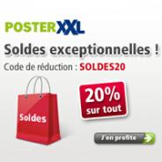 Soldes PosterXXL : 20% de réduction sur tous les produits !