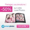 SMARTPHOTO : 50% de réduction sur votre livre photos ENJOY !
