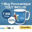 SNAPFISH : Mug panoramique pour 7,95 euros TOUT INCLUS !