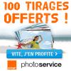 Service Photo Orange : 100 tirages achetés = 100 tirages Offerts