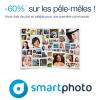 60% de réduction sur votre premier pêle-mêle avec SMARTPHOTO