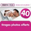 PHOTOCITE : Offre de bienvenue de 40 tirages photo gratuits
