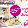 PHOTOCITE : 55% de réduction sur les livres photos carrés !