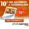 Le calendrier photo mural à seulement 10 euros chez PhotoService