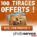 En exclusivité sur PhotoService : 100 tirages photo offerts !