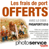 Les frais de port offerts pour toute commande photo sur PhotoService