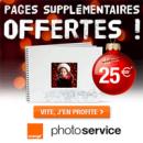 Service Photo Orange : Les pages entre 25 et 60 de votre livre photo classique sont offertes