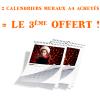 2 calendriers muraux achetés = 1 offert chez Service Photo Orange