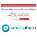 40% de réduction sur tout le site SMARTPHOTO