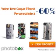 PHOTOBOX : -60% sur les coques personnalisée iPhone