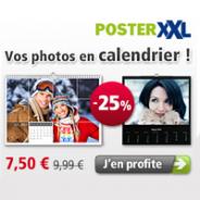 posterXXL : 25% de réduction sur votre calendrier photo !
