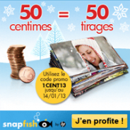 SNAPFISH : Développement photo à 1 centime le tirage photo !