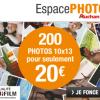 Espace Photo Auchan : 200 tirages photo pour seulement 20€