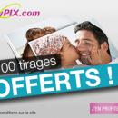 100 tirages photo gratuits chez myPIX